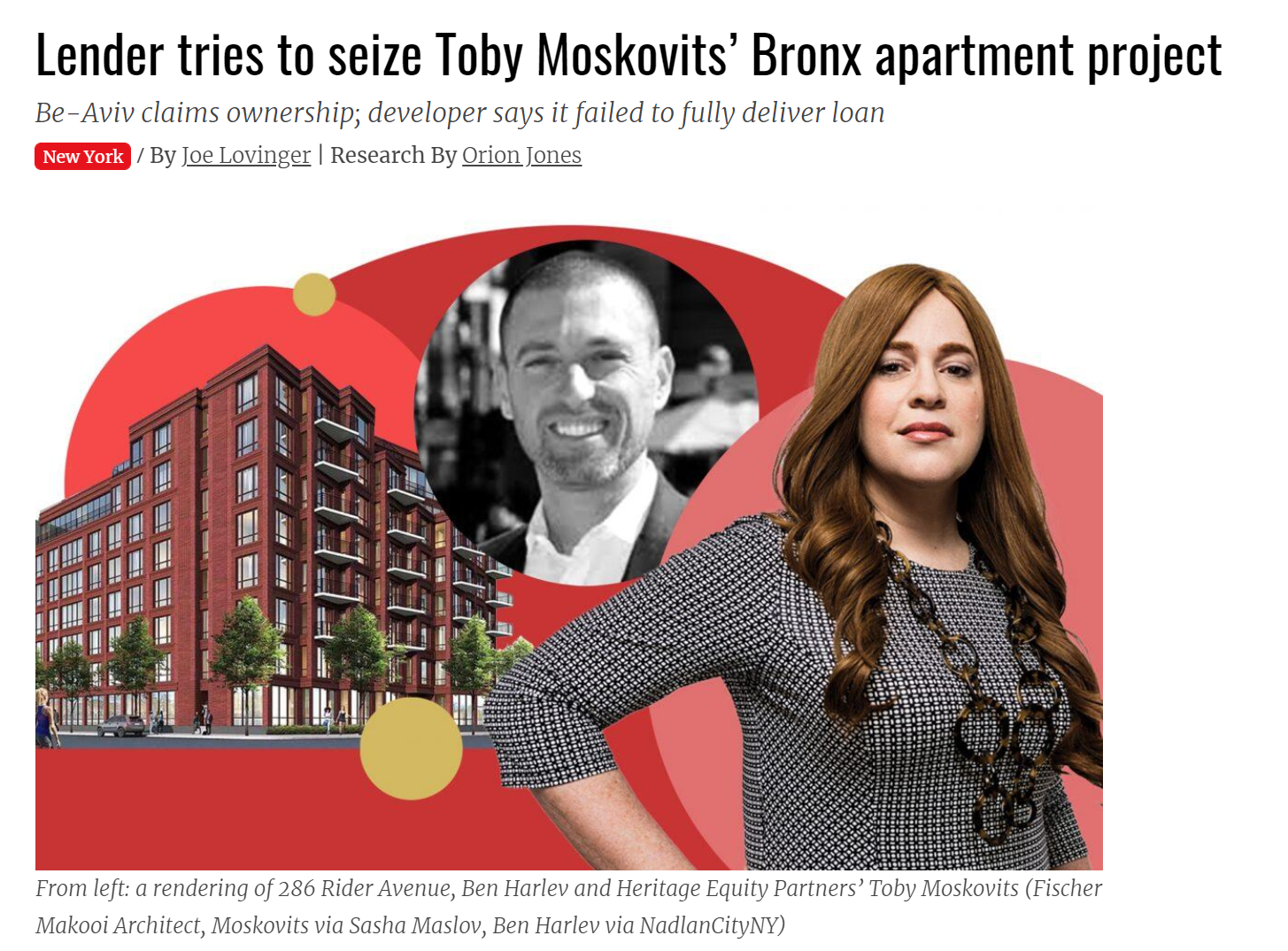 Lender tries to seize Toby Moskovits' Bronx apartment project