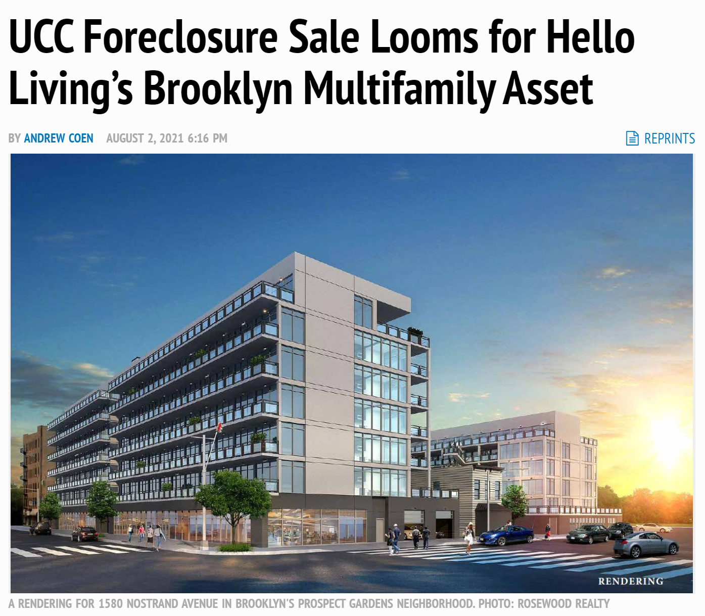 UCC Foreclosure Sale Looms for Hello Living's Brooklyn Multifamily Asset